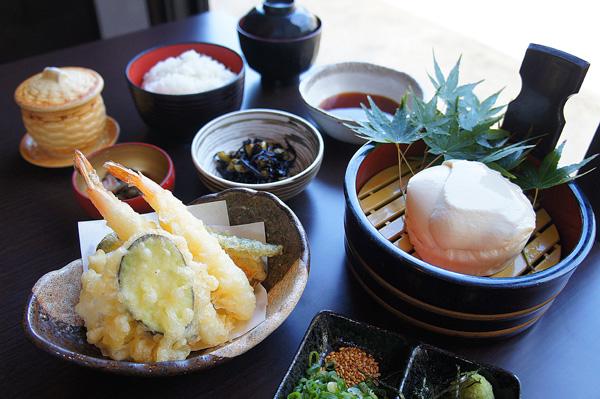 天ぷら豆腐御膳